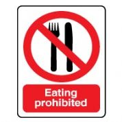 Prohibition safety sign - Eating Prohibited 045
